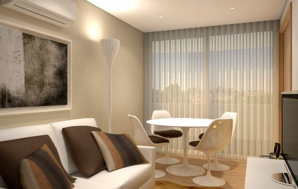 3D model apartment – T1 small